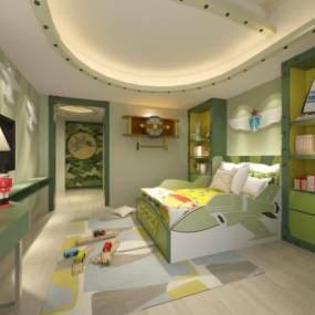 现代儿童房3D模型【ID:531759290】