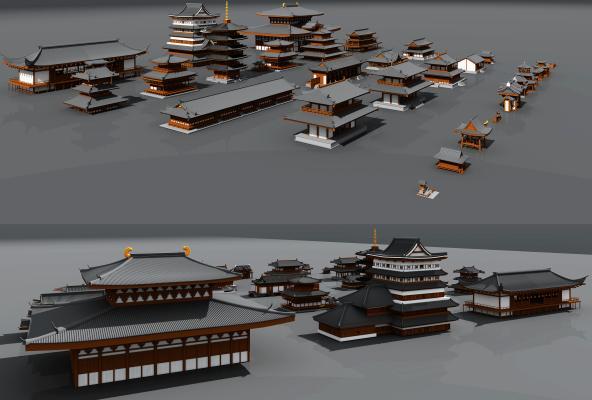 北欧古建筑3D模型【ID:135746965】