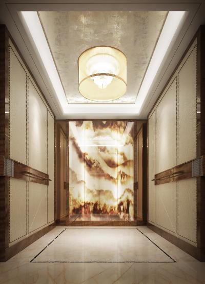 现代奢华酒店电梯3D模型【ID:745848651】