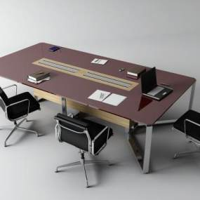 現代會議桌3D模型【ID:951335173】