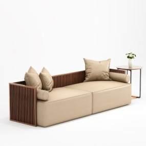 新中式沙發3D模型【ID:651328505】