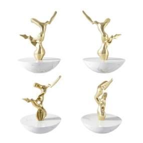 现代金属雕塑3D模型【ID:243665557】