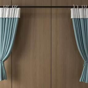 现代窗帘3D模型【ID:232030655】