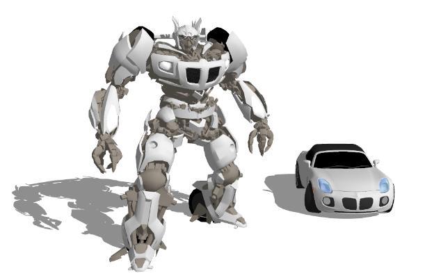 现代变形机器人汽车玩具SU模型【ID:151890206】