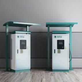 现代国家电网充电桩雨棚3D模型【ID:432128506】