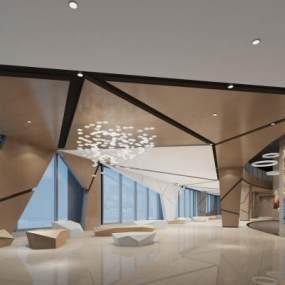 售楼处三层休息区 3D模型【ID:941075678】