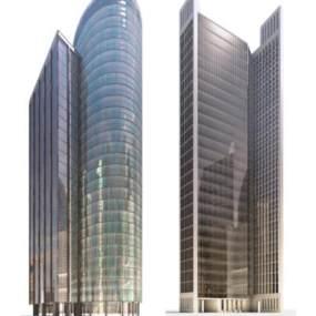 现代办公楼3D模型【ID:153756247】