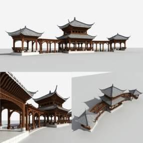 中式亭子3D模型【ID:131808404】
