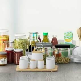 現代廚房用品3D模型【ID:546579327】