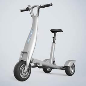 现代滑板车电动车3D模型【ID:443395671】