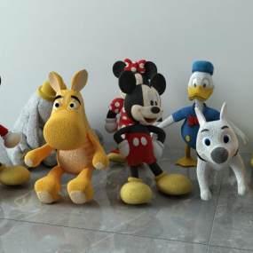 现代玩具组合3D模型【ID:334808745】
