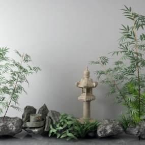 新中式景观小品3D模型【ID:149184462】
