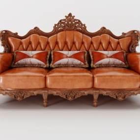 歐式沙發3D模型【ID:632319659】