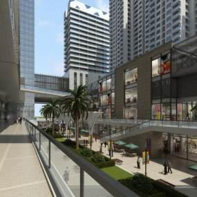 现代商业街3D模型【ID:132169902】