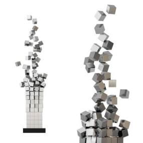 现代抽象雕塑摆件 3D模型【ID:241755530】