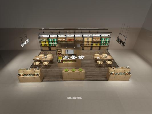 中式茶叶店3D模型【ID:840675068】