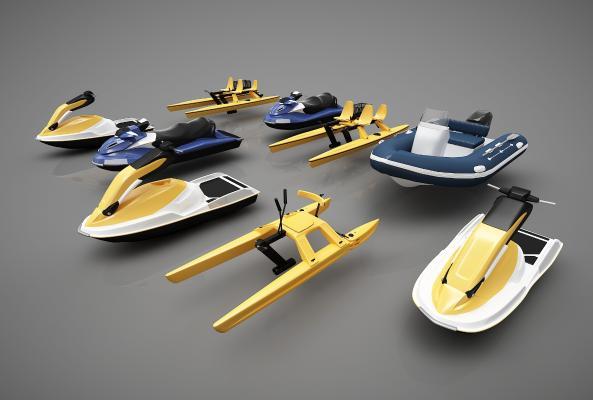 现代风格小船3D模型【ID:443145898】