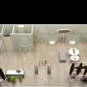现代服装店3D模型【ID:130914029】