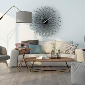 北欧组合沙发3D模型【ID:635804779】