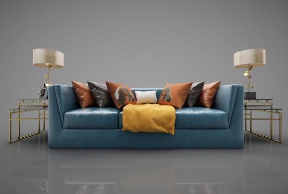 现代风格沙发3D模型【ID:645286622】