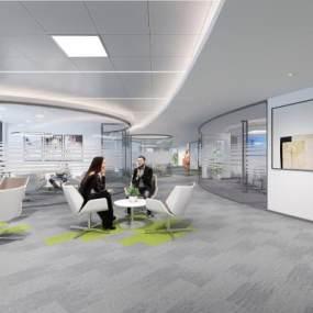 现代办公室3D模型【ID:953946066】