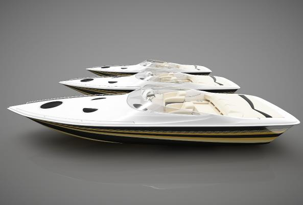 现代风格小船3D模型【ID:443145853】