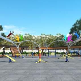 现代户外广场公园3D模型【ID:136051475】