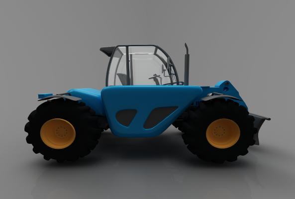 现代风格推土车3D模型【ID:443580745】