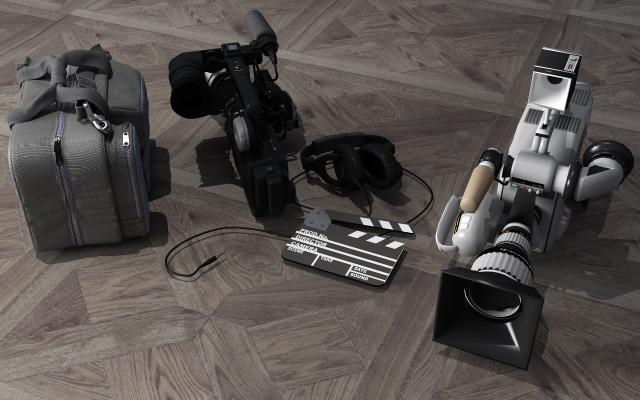 现代摄像机3D模型【ID:233578710】