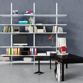 现代书柜3D模型【ID:151162551】