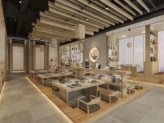 日式烤肉料理餐厅3D模型【ID:642416298】