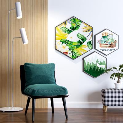 北欧装饰画 椅子组合
