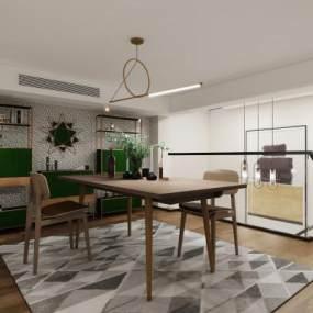 现代书房3D模型【ID:552831436】