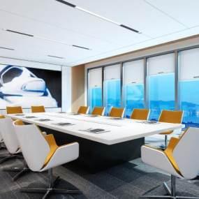 现代会议室3D模型【ID:932943147】