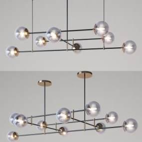 現代吊燈組合3D模型【ID:748603804】