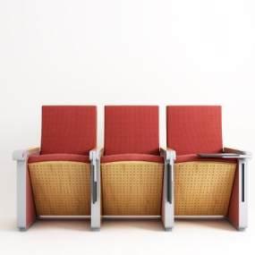 现代礼堂椅3D模型【ID:733862715】