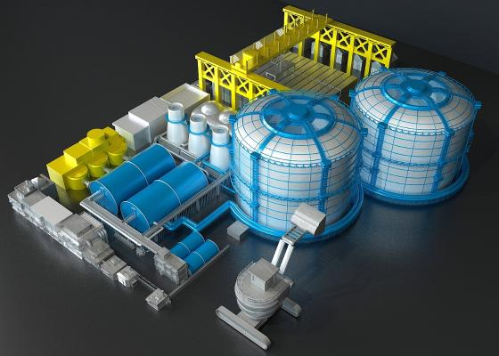 工厂3D模型【ID:241641360】