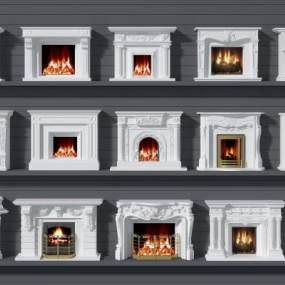 欧式壁炉3D模型【ID:332690628】