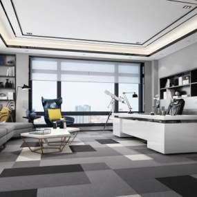 现代办公室3D模型【ID:931639088】