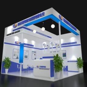 现代飞度科技展览展台3D模型【ID:943299763】