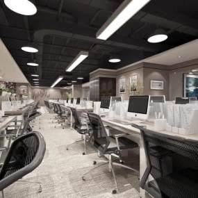 现代办公室3D模型【ID:934917039】