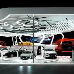 現代奧迪車展3D模型【ID:946606968】