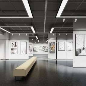 现代美术馆展厅3D模型【ID:945730701】