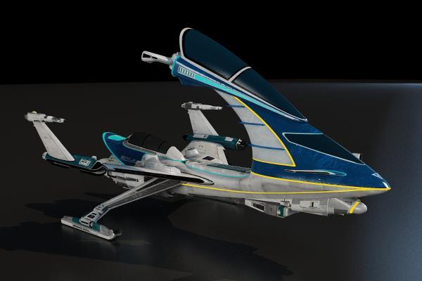 科幻飞行器3D模型【ID:440631985】
