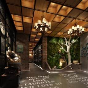 新中式茶楼3D模型【ID:634389628】
