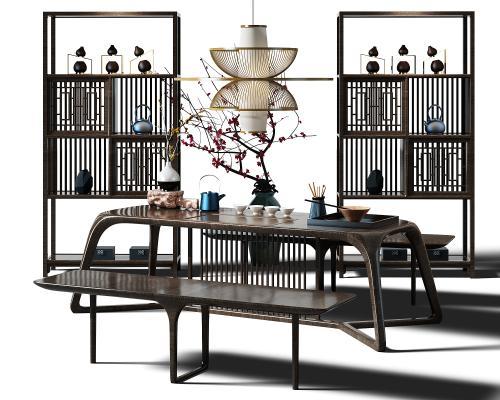 东南亚茶桌3D模型【ID:832527968】