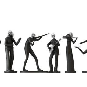 现代人物雕塑摆件3D模型【ID:235635537】