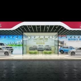现代汽车展厅3D模型【ID:931665763】