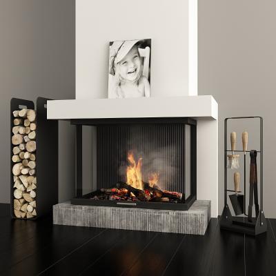 现代壁炉装饰组合3D模型【ID:345873673】