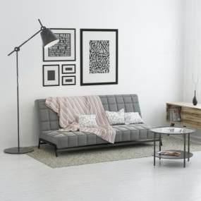 现代沙发茶几组合3D模型【ID:634712500】